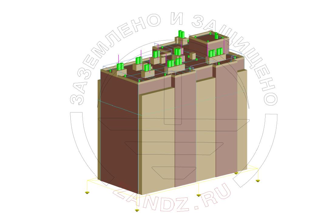 Проект заземления и молниезащиты для жилого многоквартирного дома, вид 1