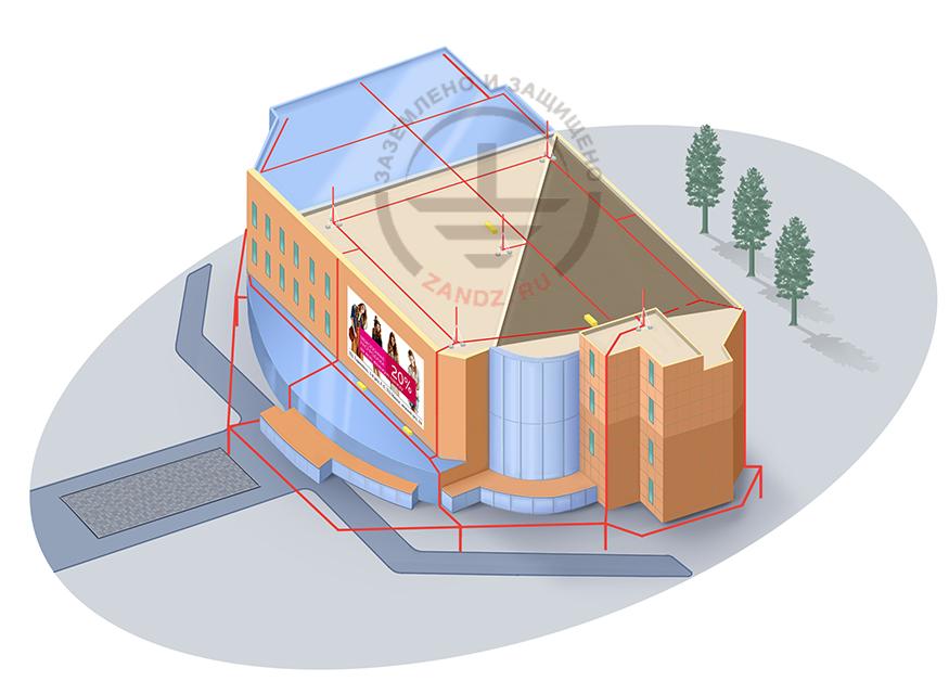Проект молниезащиты для торгового центра