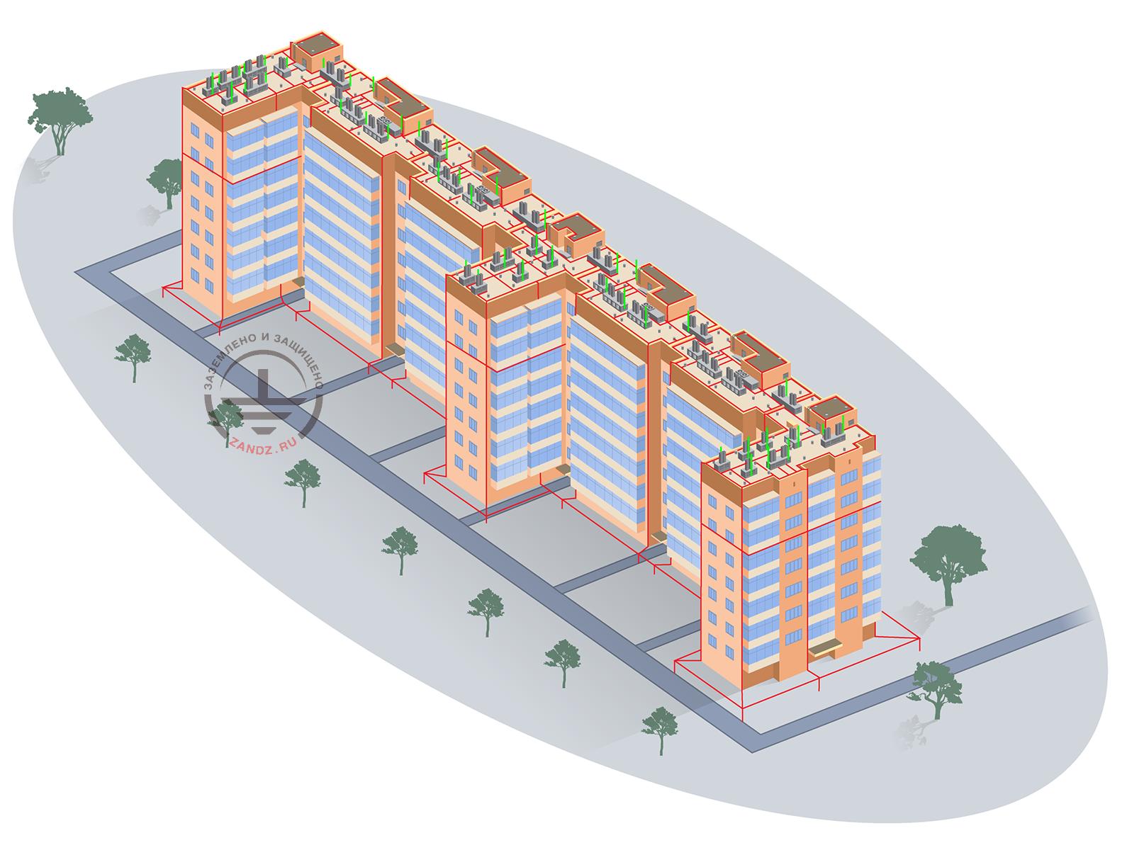 Проект заземления и молниезащиты для жилого многоквартирного дома