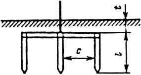 Стальной трехстержневой: полоса размером 40×4 мм стержни диаметром d=10-20 мм