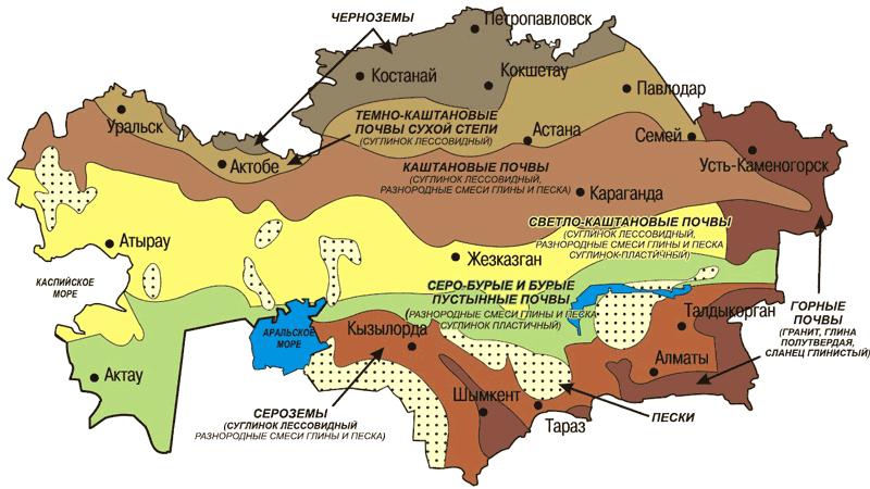 Удельное электрическое сопротивление грунтов Казахстан