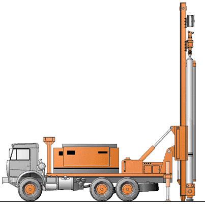 Бурение и размещение в отверстии трубы выполняется специальной машиной